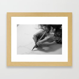 Hands, your hands! Framed Art Print
