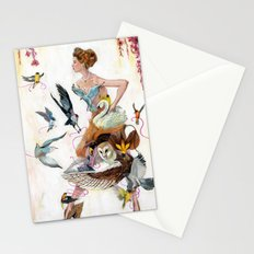 Lady of Spring Stationery Cards