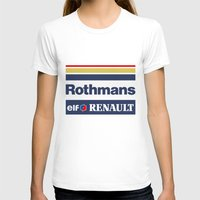 senna T-shirts featuring Williams F1 Rothmans Ayrton Senna by Krakenspirit