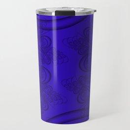 Blue Gem Fractal Travel Mug
