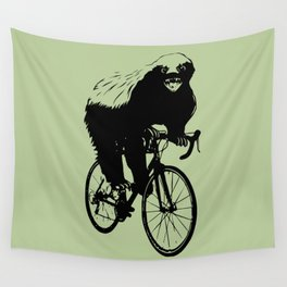 Honeybadger does care, about his health. Wall Tapestry