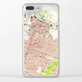Vintage Map of Savannah Georgia (1955) Clear iPhone Case