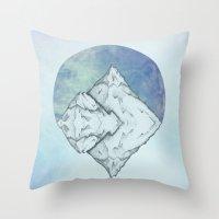 frozen Throw Pillows featuring Frozen by Holly Nekonam