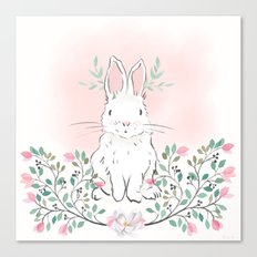 Magnolia Bunny Canvas Print