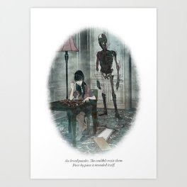 Behind You 37 Art Print