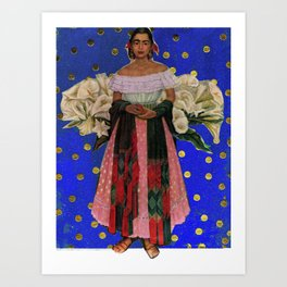 POLKA DOT FRIDA Art Print