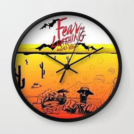 Fear and Loathing in Las Vegas- Desert Wall Clock