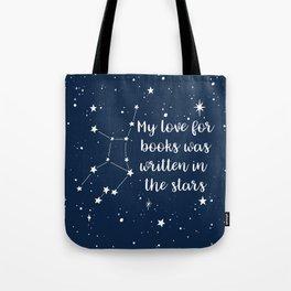 VIRGO: Written in the Stars Tote Bag