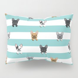 French Bulldog stripes Pillow Sham
