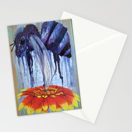 Bee and Flower Stationery Cards