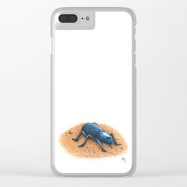 Blue Death Feigning Beetle Clear iPhone Case