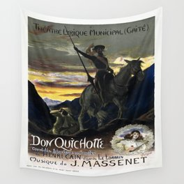 Vintage poster - Don Quichotte Wall Tapestry