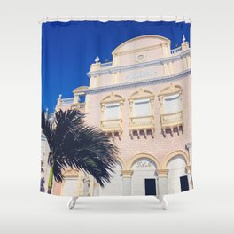 To the Theatre in Cartagena Shower Curtain
