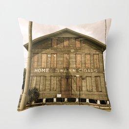 Historic Ybor Building Throw Pillow