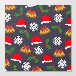 Jingle Bells Christmas Collage Canvas Print
