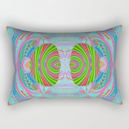 African Print Inspired Geometric Trip Rectangular Pillow