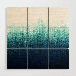 Teal Ombré Wood Wall Art