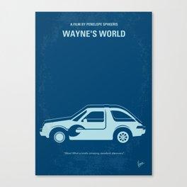 No211 My Waynes World minimal movie poster Canvas Print
