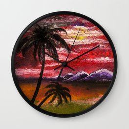 Finger Painting Wall Clock