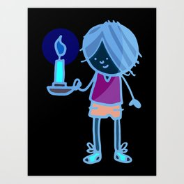 Boy with Candle Art Print