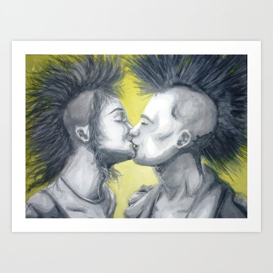 Kiss me deadly Art Print