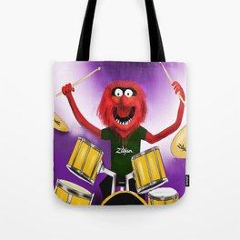 Animal Drummer Tote Bag
