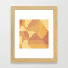 Geometric Pattern in Summer Orange Framed Art Print