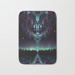 Midnight Aura - Fractal Manipulation - Manafold Art Bath Mat