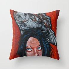 whoa, owl! Throw Pillow