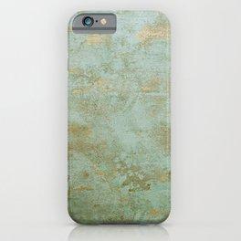 Metallic Effects Oxidized Copper Verdigris Industrial Rustic iPhone Case
