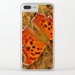 Eastern Comma Clear iPhone Case