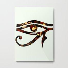 Eye of Horus - Mahogany Metal Print
