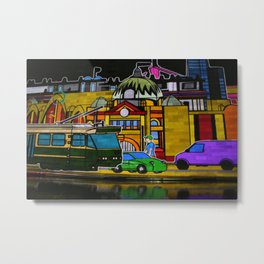Icons of Melbourne Illuminated Metal Print