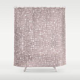Moonlit Ocean - Abstract Geometric Minimalism Shower Curtain