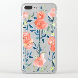 Spring Flowers #3 Clear iPhone Case
