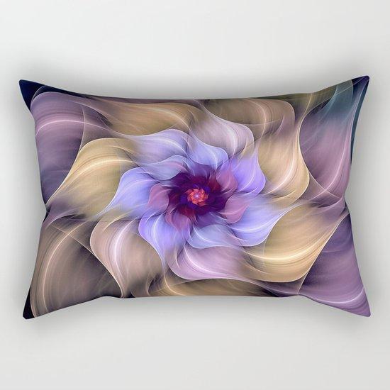 Colorful Magic Flower Rectangular Pillow