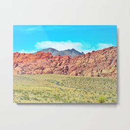 Paint The Hills Red Metal Print