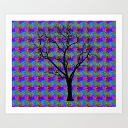 Psychedelic Mystery Tree Art Print