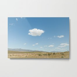 White clouds in the mountains Metal Print