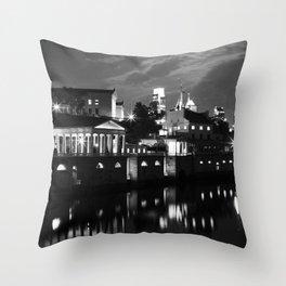Philadelphia by Night Throw Pillow