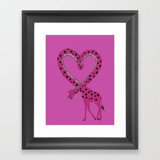 I'm in love Framed Art Print