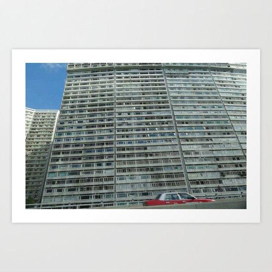 HK eastern corridor Art Print