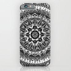 Black and White Mandala Pattern Slim Case iPhone 6s