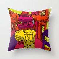 runner Throw Pillows featuring Runner by Brenton Morgenstern