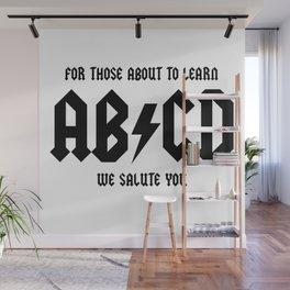 AB CD Wall Mural