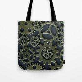 Gold Cogs Tote Bag