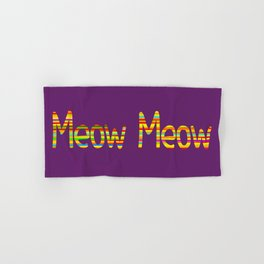 Meow Meow (in color) Hand & Bath Towel