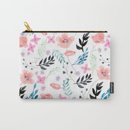 Sweet Floral Watercolor Carry-All Pouch