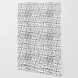 Fractured Pattern Black Wallpaper