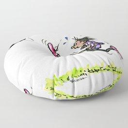 Little Soccer Girl Floor Pillow